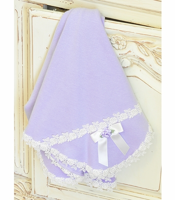 Katie Rose Lilac Baby Girls Blanket
