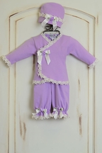 Katie Rose Lilac Infant Girl Coming Home Outfit (Size 6Mos)
