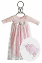 Katie Rose Newborn Take Home Gown for Girls Pink Leila (Size 3 Mos)