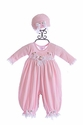 Katie Rose Pink Baby Girl Romper and Hat
