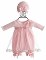 Katie Rose Pink Bloomer Dress for Baby Girls in Long Sleeve