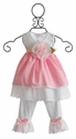 Katie Rose Pink Eyelet Infant Dress and Legging
