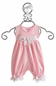 Katie Rose Sleeveless Pink Romper for Baby Girls