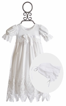 Katie Rose Sophia Lace White Christening Gown for Baby Girls