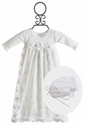 Katie Rose White Lace Infant Gown and Bonnet