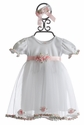 Katie Rose White Rose Bud Infant Dress