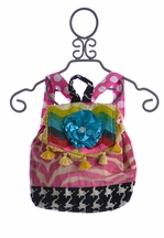Keep It Gypsy Backpack for Girls in Teal Chevron