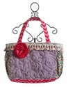 Keep It Gypsy Lavender Chenille Diaper Bag