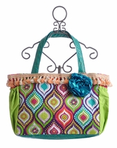 Keep It Gypsy Turquoise and Goldenrod Diaper Bag