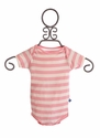 KicKee Pants Baby Girls Onesie with Short Sleeves in Stripes