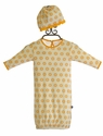 KicKee Pants Baby Girls Ruffle Gown and Hat with Sunflowers