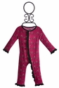KicKee Pants Baby Romper for Girls Ruffled Berry