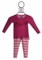 KicKee Pants Baby Ruffle Leggings and Top Winter Stripe