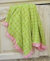 KicKee Pants Blanket Green Meadow Flower Lattice