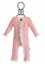 KicKee Pants Butterfly Ruffle Onesie for Girls in Pink