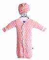 KicKee Pants Convertible Gown Pink Daisy and Hat