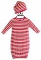 KicKee Pants Designer Gown and Hat for Baby Girls Bubblegum Stripes