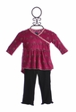 KicKee Pants Designer Infant Top and Leggings Christmas Berry