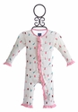 Kickee Pants Girls Baby Romper Christmas Lights (Newborn & 0-3 Mos)