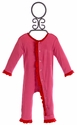 KicKee Pants Girls Baby Romper in Bubblegum Pink
