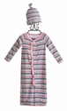 KicKee Pants Girls Striped Convertible Gown