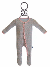 KicKee Pants Infant Footie for Girls Pearl Heart