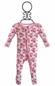 Kickee Pants Infant Girls Footie Pink Poinsettia