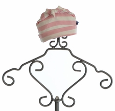KicKee Pants Infant Girls Knot Hat with Stripes