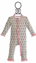KicKee Pants Infant Girls Romper with Cherry Tree Print