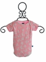 KicKee Pants Infant Girls Short Sleeve Onesie with Butterflies