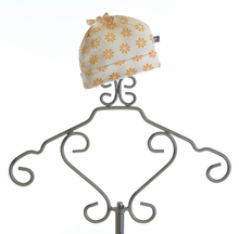 KicKee Pants Knot Hat for Infant Girls with Sunflowers(Size Preemie)