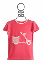 KicKee Pants Moped Top in Pink Flamingo (Size 7)