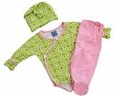 KicKee Pants Newborn Outfit Meadow Flower