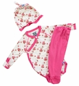 KicKee Pants Onesie Pant Set for Baby Girls Rose Trellis