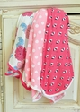 KicKee Pants Pink Receiving Blanket Set of 3