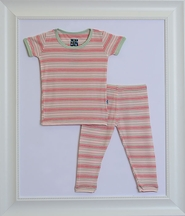 Kickee Pants PJ Set Girl Desert Stripe