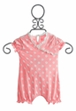 KicKee Pants Polka Dot Pink Girls Romper