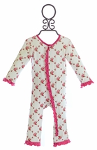 KicKee Pants Romper for Infant Girls with Roses