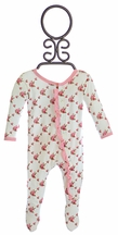 KicKee Pants Rose Trellis Baby Girls Footie
