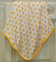 KicKee Pants Sunflower Swaddle Blanket for Babies