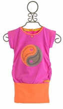 Kidz Art Girls Tunic in Purple and Orange (3,4,5/6,7/8,9/10)