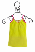 Kidz Art Summer Tank for Girls in Yellow (2,4,7/8,11/12)