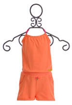 Kidz Art Trendy Romper for Girls in Orange (2,5/6,9/10)