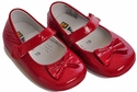 Kone Shoes Patent Leather Bow Shoes in  Red