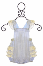 Krewe Bubble Romper for Girls with Ruffles (9Mos & 12Mos)