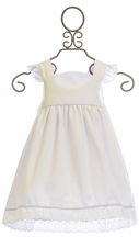 Krewe Girls White Dress Eyelet Trim (12Mos,18Mos,4T,6)