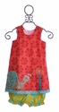 La Jenns Dress for Girls with Snail Applique