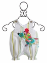 La Jenns Infant Bubble with Dog Applique