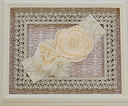 LaBella Flora Couture Ivory Headband for Girls