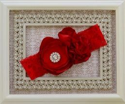 LaBella Flora Couture Red Headband for Girls